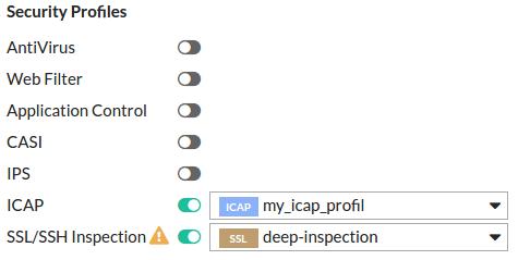 4 4 6 FortiGate - MetaDefender ICAP Server