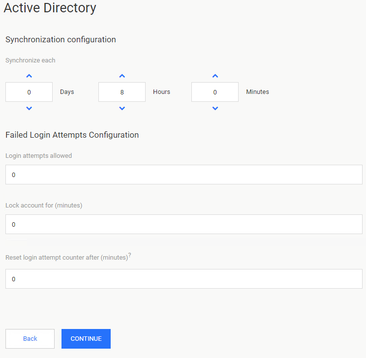Active Directories Settings